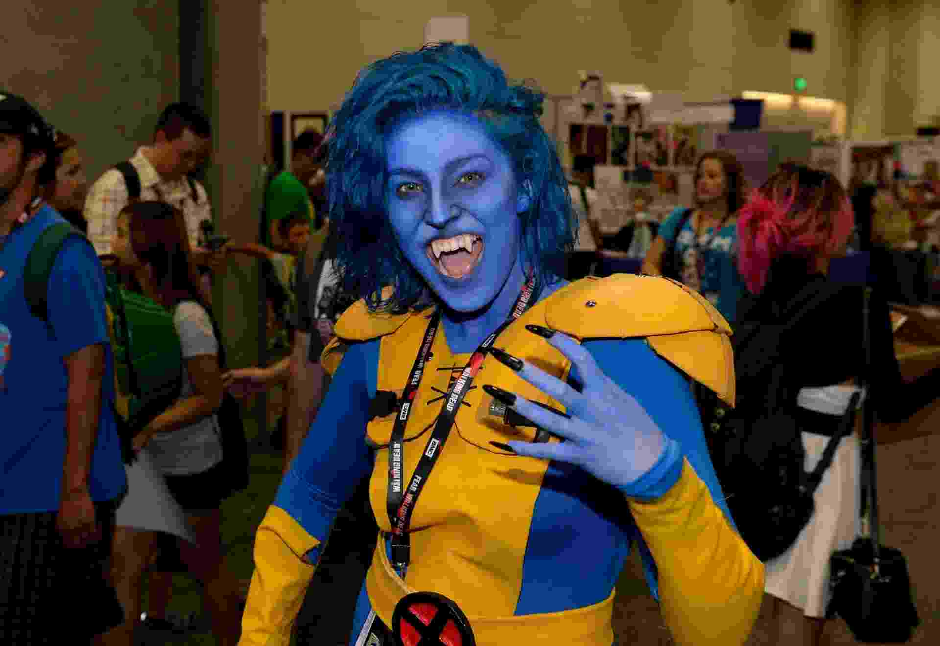 23.jul.2016 - Como seria a versão feminina de Fera, dos X-Men? Essa cosplayer mostrou uma versão animal do personagem - Getty Images