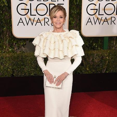 A atriz Jane Fonda no Globo de Ouro 2016 - Getty Images
