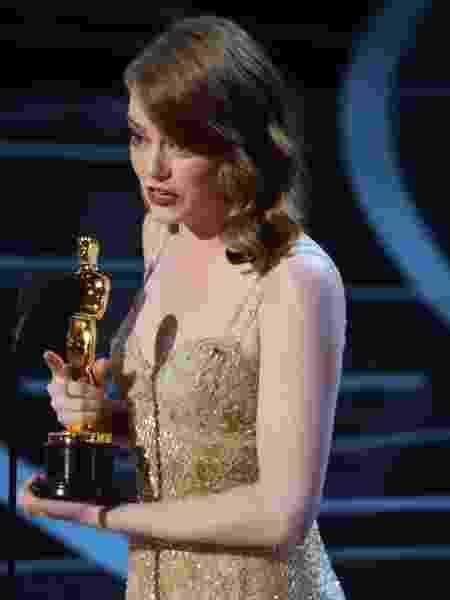 Emma Stone conquista o Oscar de melhor atriz por La La Land - REUTERS/Lucy Nicholson