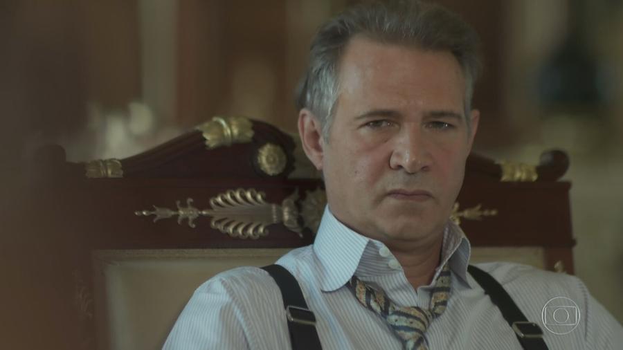 """Nelson Freitas na novela """"Tempo de Amar"""", da Globo - Reprodução/TV Globo"""