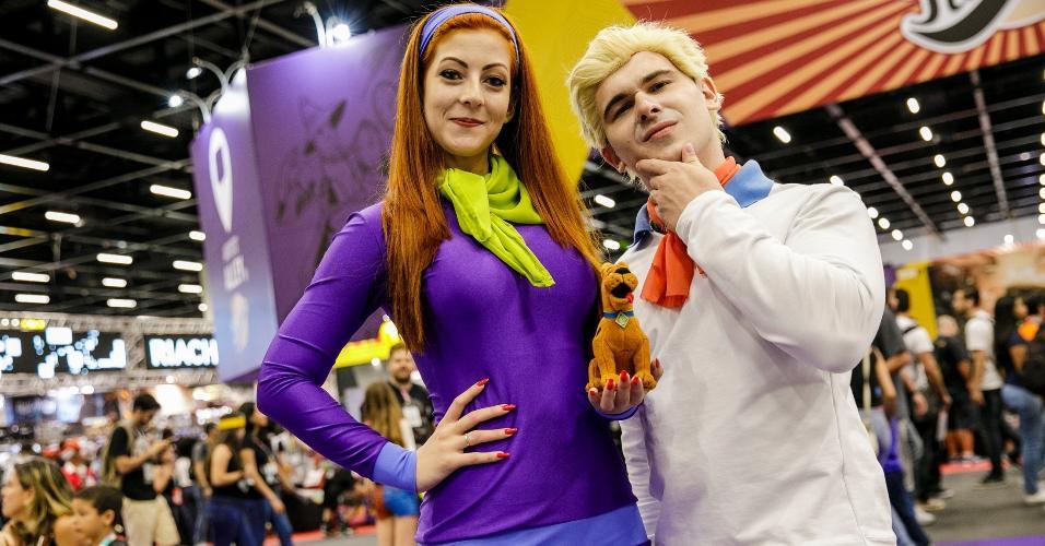 "Cosplay old school: Personagens do desenho ""Scooby-Doo"" se materializam na CCXP"