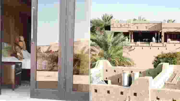 O hotel em que Angélica e Luciano Huck estão hospedados com os filhos no deserto no Emirados Árabes - Reprodução/Instagram - Reprodução/Instagram