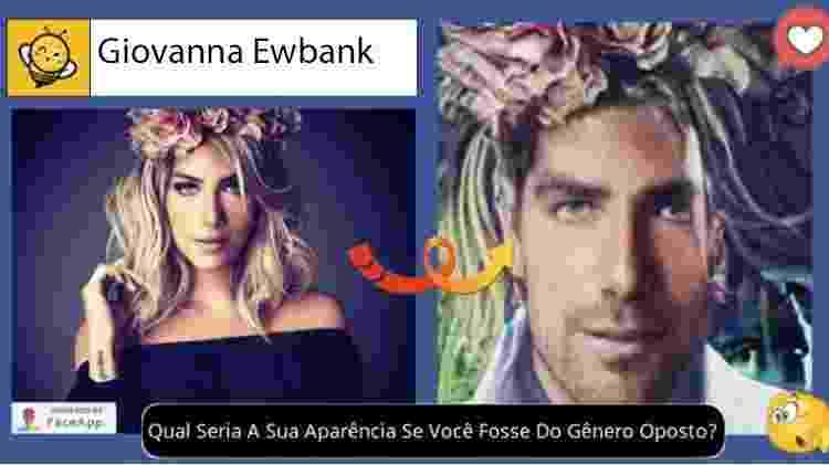 Giovanna Ewbank se fosse homem, segundo brincadeira no Facebook - Reprodução - Reprodução