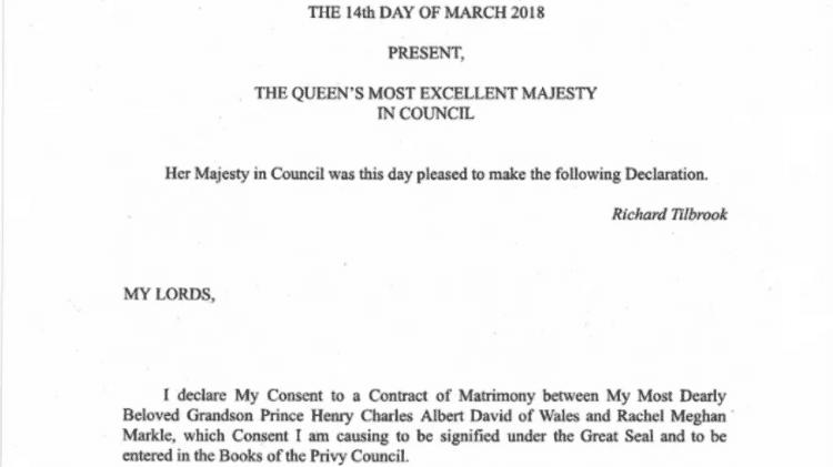 Rainha autoriza o casamento do príncipe Harry e Meghan Markle - Reprodução - Reprodução
