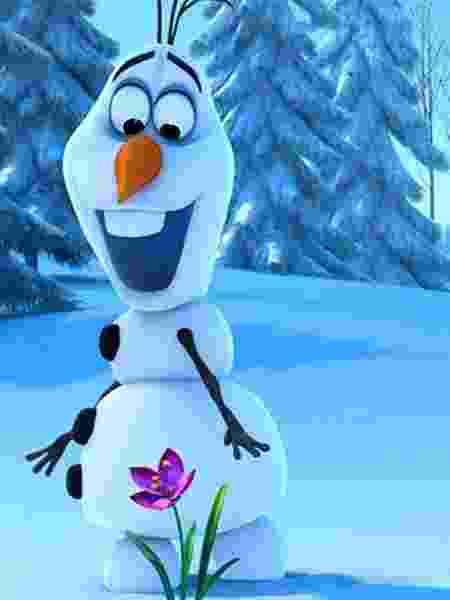 """Boneco de neve Olaf em cena de """"Frozen - Uma Aventura Congelante"""" (2013) - Divulgação"""