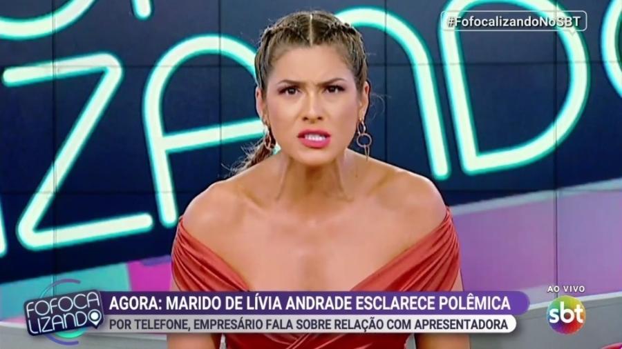 """Lívia Andrade fala sobre o marido no """"Fofocalizando"""" - Reprodução/SBT"""