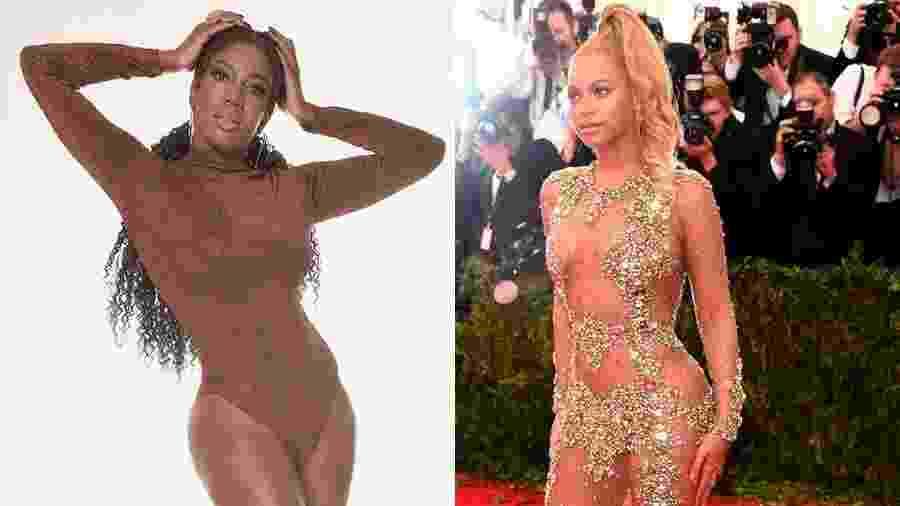A atriz Maria Gal homenageará Beyoncé no desfile da Vai-Vai - Montagem/UOL/Pino Gomes/Getty Images