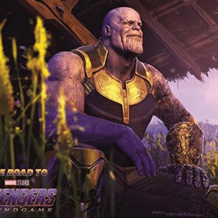Arte conceitual mostra como ficou o braço de Thanos após dizimar meio universo - Reprodução - Reprodução