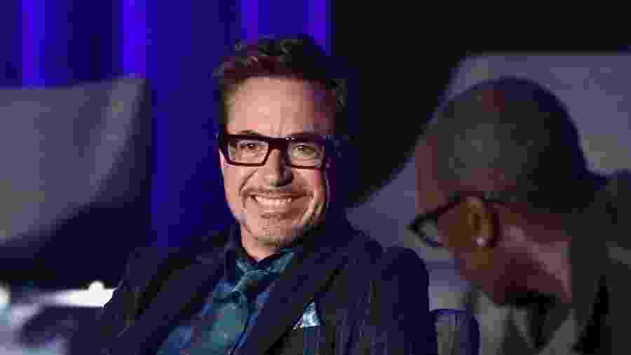 """Robert Downey Jr. durante evento de """"Vingadores: Ultimato"""" em Los Angeles - Alberto E. Rodriguez/Getty Images for Disney"""