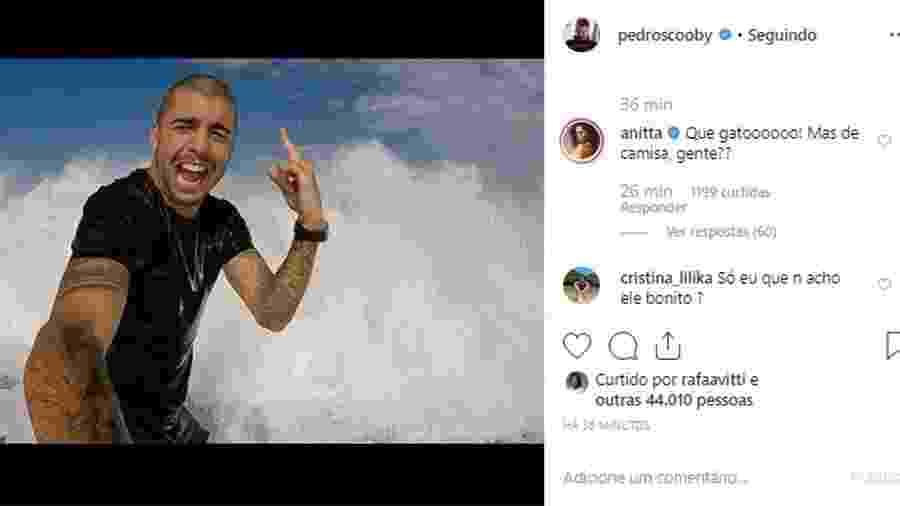 Anitta elogia Pedro Scooby em foto - Reprodução/Instagram