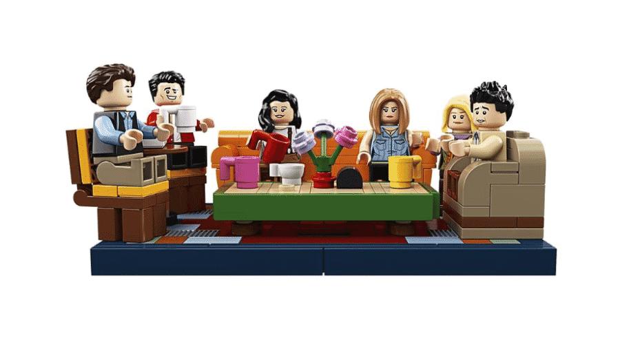 O set clássico do Central Perk, de Friends, reproduzido em LEGO - Reprodução