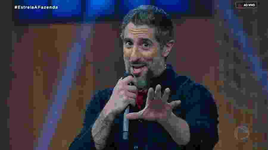 Marcos Mion apresenta o programa de estreia de A Fazenda 11 - Reprodução/RecordTV