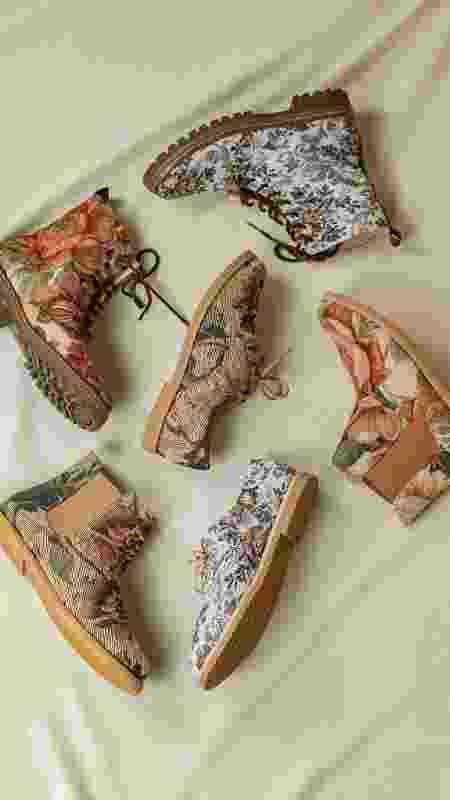 Sapatos veganos da marca Urban Flowers tem selo reconhecido internacionalmente e aderido por apenas 1 mil empresas - Divulgação/Urban Flowers - Divulgação/Urban Flowers