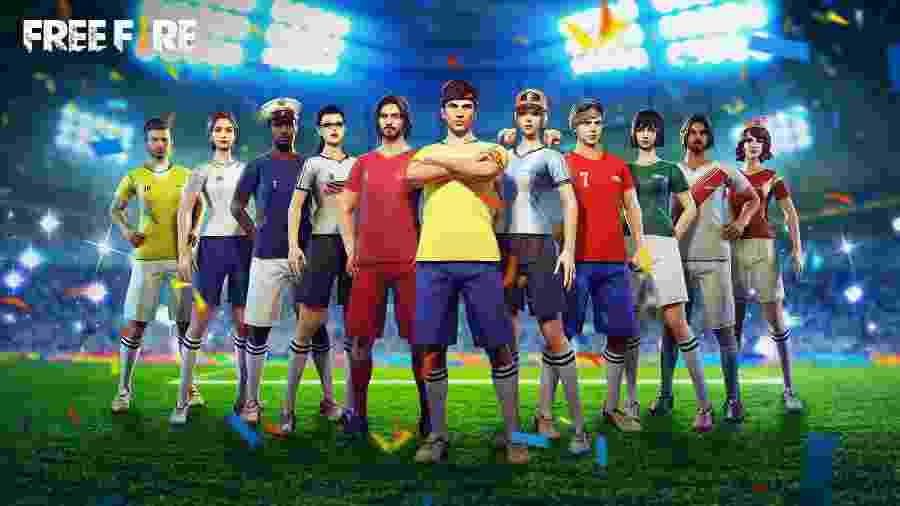 As camisas de futebol são sucesso no Free Fire - Divulgação