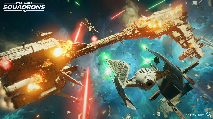 Star Wars: Squadrons coloca o jogador em diversas naves da franquia, desde X-Wings até caças TIE  - Divulgação/EA