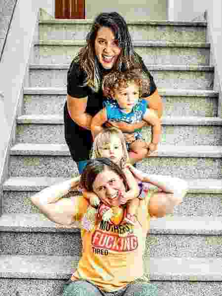 Marcela e Melanie são mães dos gêmeos Bernardo e Iolanda, de dois anos - Reprodução/Instagram