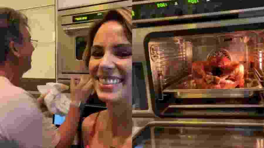 Ana Furtado e Boninho cozinham juntos para data típica dos Estados Unidos - Reprodução/Instagram