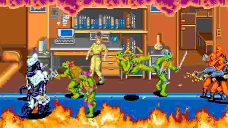 videogame tartarugas ninja - reprodução - reprodução
