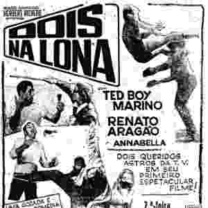 """Lançado em 1968, """"Dois na Lona"""" apresenta a primeira formação dos Trapalhões, com Renato Aragão e Ted Boy Marino - Divulgação"""