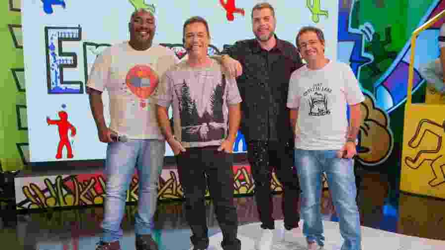 """Integrantes do """"Encrenca"""" comemoram sucesso do programa, hoje a maior audiência da RedeTV - Divulgação/RedeTV!"""
