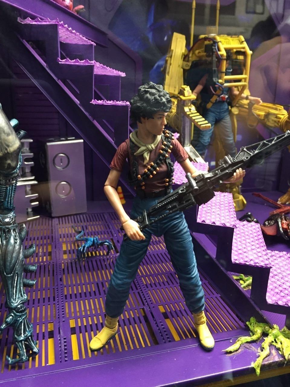 A figura de ação de Ripley é um dos brinquedos em exposição na San Diego Comic-Con 2016