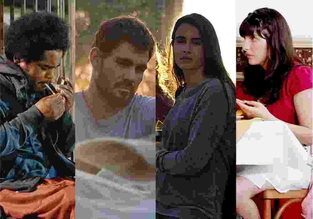 """Cenas dos filmes """"Branco Sai, Preto Fica"""" (2014), """"Boi Neon"""" (2015), """"Mate-me Por Favor"""" (2015) e """"Eu Não Faço a Menor Ideia do Que Eu Tô Fazendo Com a Minha Vida"""" (2012) - Montagem/Reprodução"""