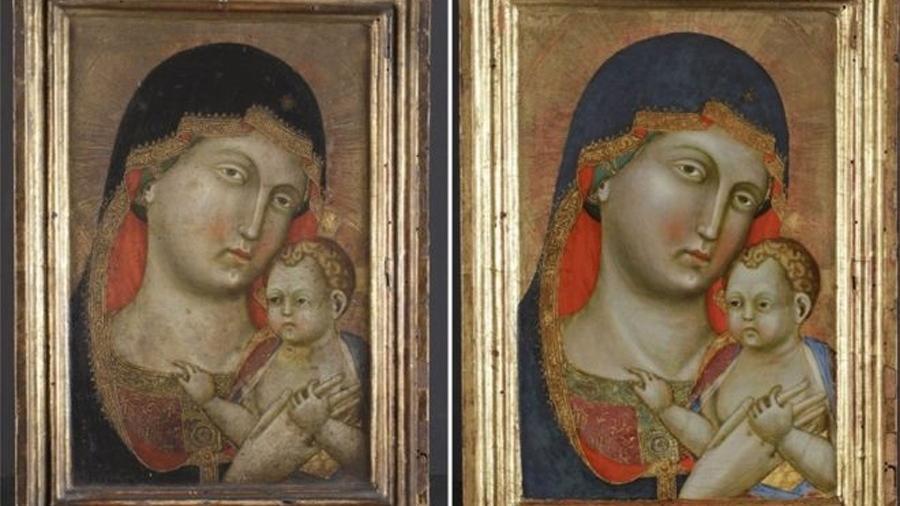 O quadro Virgem Maria e Menino Jesus, do pintor renascentista italiano Pietro di Niccolo da Orvieto - PA
