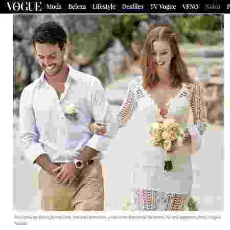 """Revista """"Vogue"""" divulgou foto do casamento de Marina Ruy Barbosa - Reprodução/Vogue - Reprodução/Vogue"""