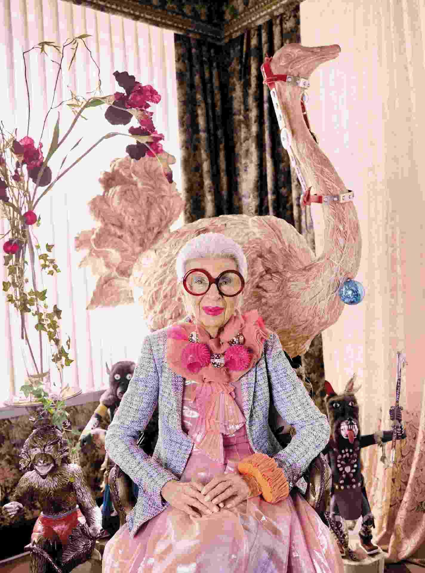 A empresária e ícone fashion Iris Apfel - Divulgação
