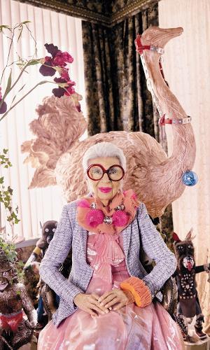 A empresária e ícone fashion Iris Apfel