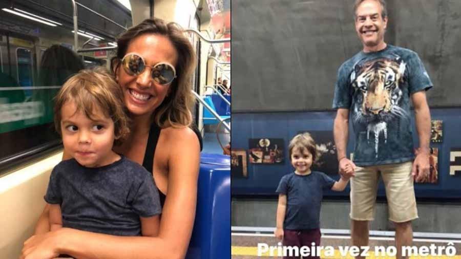 Luisa Mell leva o filho Enzo para andar de metrô pela primeira vez - Reprodução Instagram