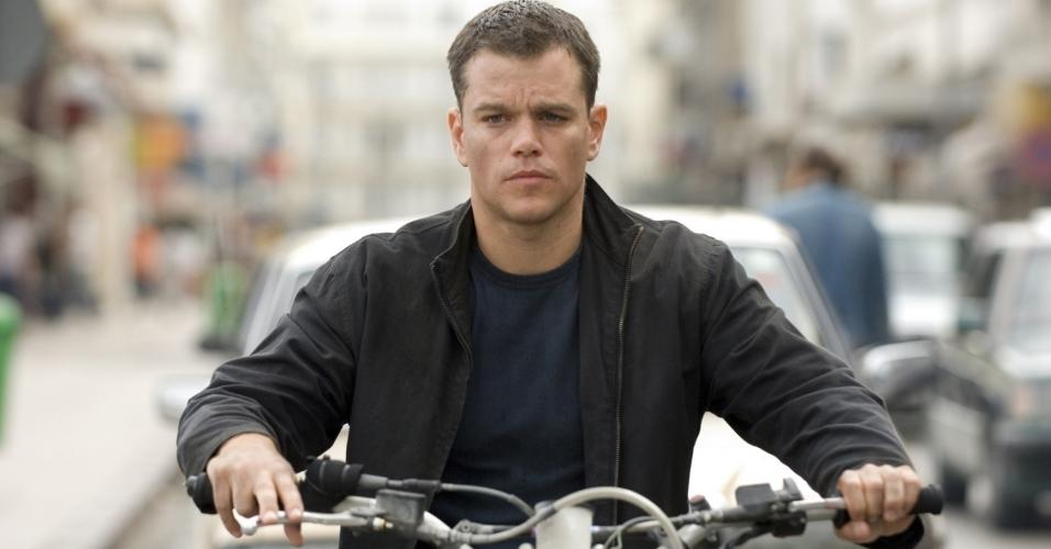 "Matt Damon em cena de ""O Ultimato Bourne"" (2007)"