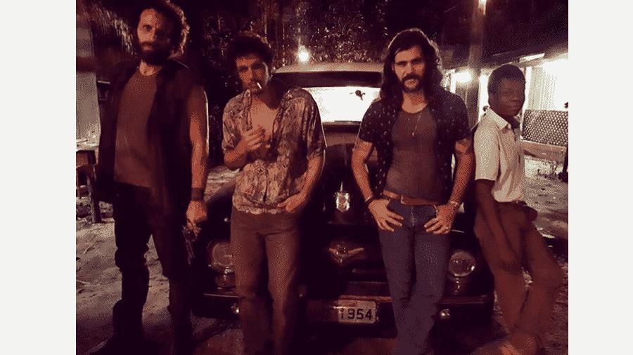 César Ferrario (Rato),  Rafael Losso (Zé Victor), Juliano Cazarré (Mariano) e  Alexandre Rodrigues (Valdo) - Reprodução/Instagram