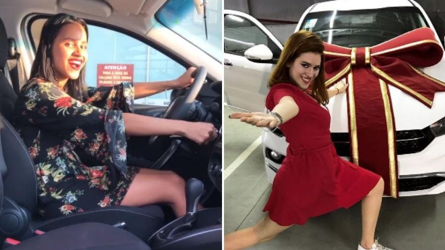 """Gleici e Ana Clara exibem o carro que ganharam no """"BBB 18"""" - Reprodução/Instagram"""