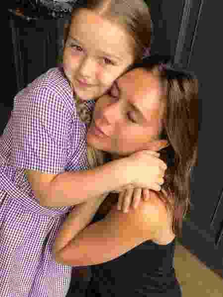 Victoria Beckham e a filha Harper - Reprodução/Instagram