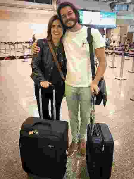 Tulio Gadelha e Fátima Bernardes posam para foto antes de viajarem - Reprodução/Instagram