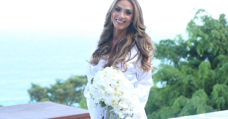Nicole Bahls se prepara para casamento com Marcelo Bimbi na Candelária, no Rio