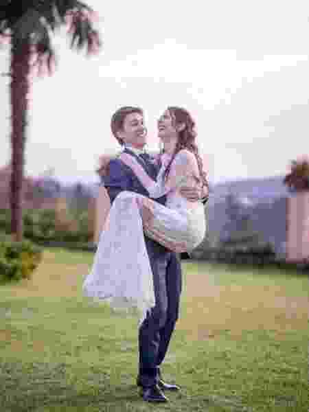 Giulia e o marido, Andrea: casal se apaixonou durante tratamento - Reprodução/Instagram