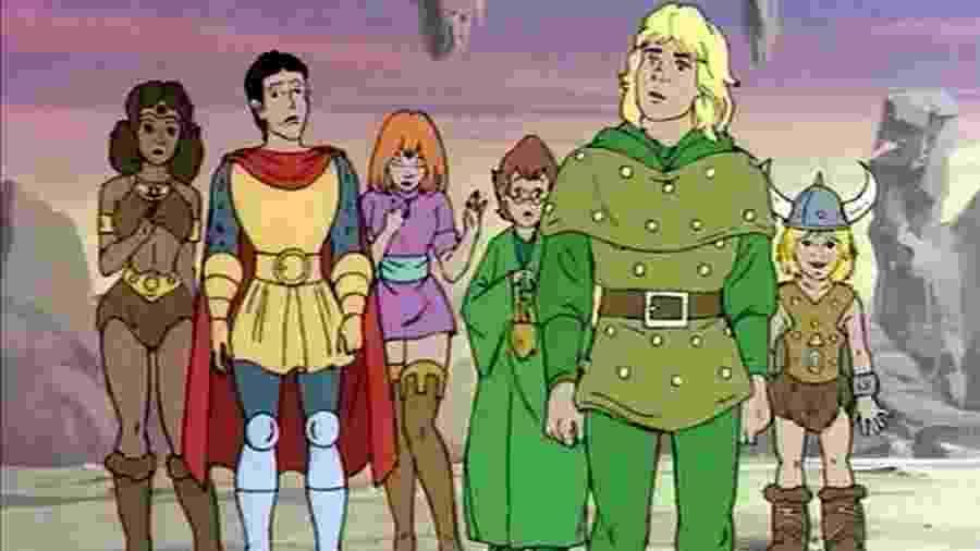 """Cena do desenho """"Caverna do Dragão"""", exibido pela Globo na década de 1980 - Reprodução"""