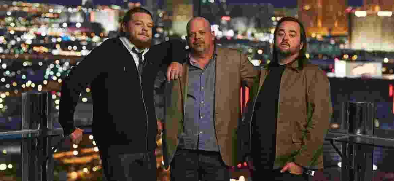 """Big Hoss, Rick Harrison e Chumlee, o trio do reality """"Trato Feito"""", do The History Channel - Divulgação/History"""
