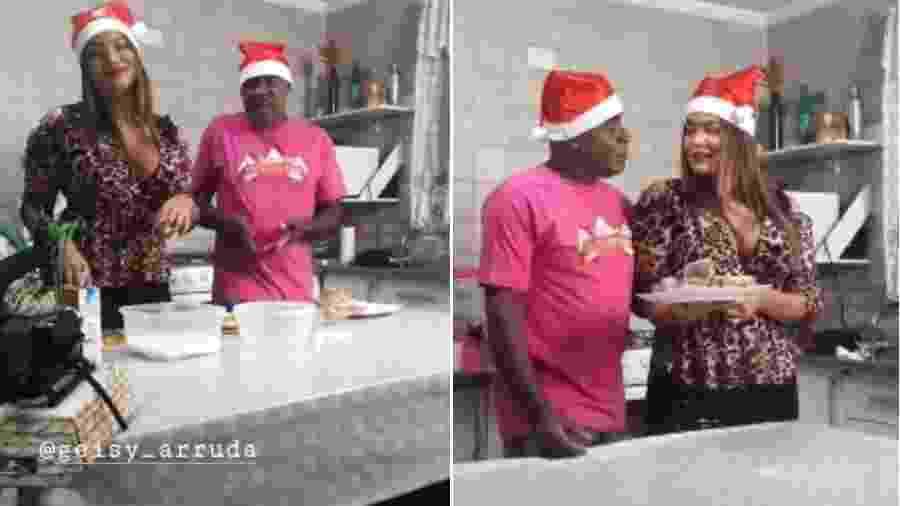 Geisy Arruda e Kid Bengala fazem rabanada de natal - Reprodução/ Instagram