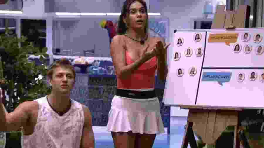 Gizelly se irrita com Lucas - Reprodução/TV Globo