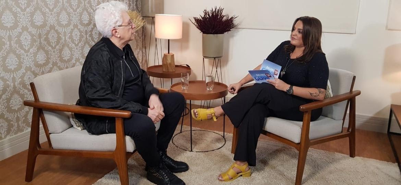 """Exclusivo: Aguinaldo Silva dá entrevista a Fabíola Reipert, do """"Balanço Geral"""", matéria vai ao ar na segunda (09) - Divulgação/RecordTV"""