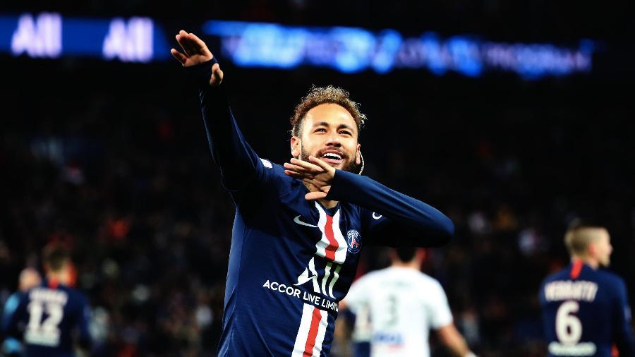 Neymar é um craque do futebol e das dancinhas; será que veremos alguma na Champions? - Xavier Laine/Getty Images