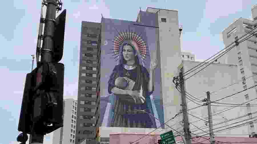 Mural de Hanna Lucatelli é finalizado hoje na Vila Nova Conceição, bairro da zona sul de São Paulo  - Divulgação/Vivara