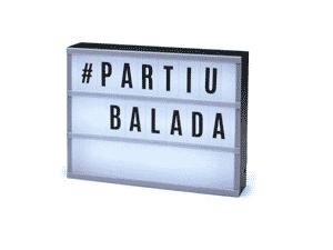 Luminária Palavras - Letreiro de Cinema - Divulgação - Divulgação