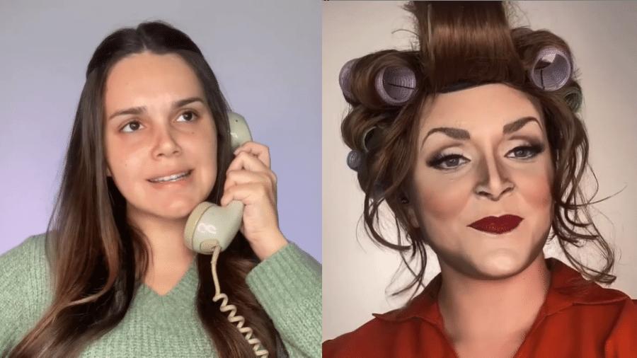 Letícia Gomes se transformou em Dona Hermínia, personagem mais conhecida de Paulo Gustavo - Reprodução/Instagram