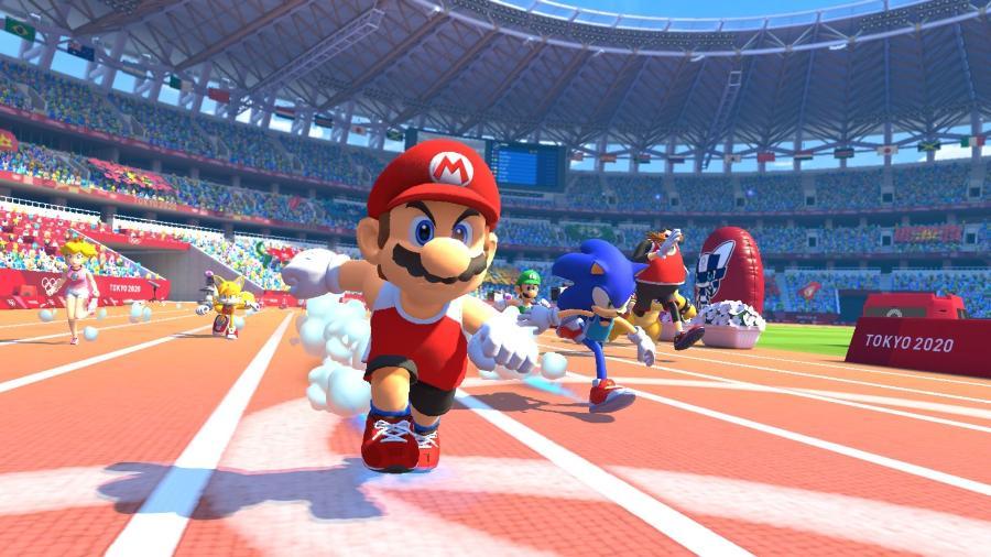 Mario marcou presença no jogo Olympic Games Tokyo 2020... mas não na Abertura - Divulgação