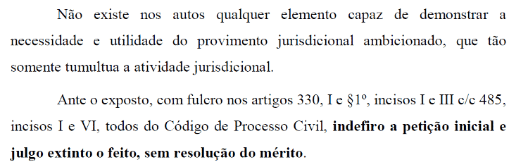 Aldebaran processo 2 - decisão juíza - Reprodução - Reprodução