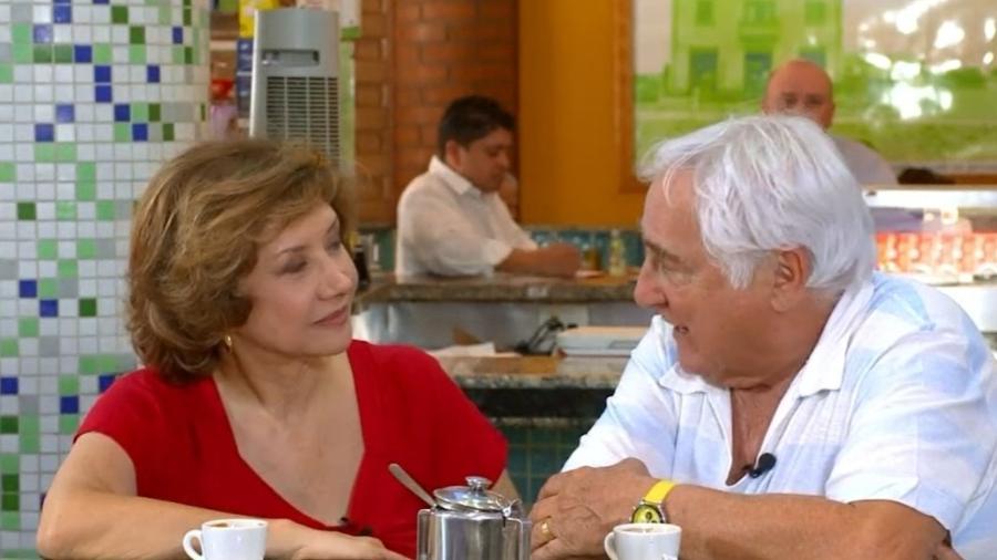 """Ana Rosa lembrou parceria com Luis Gustavo e se emocionou no """"Encontro com Fátima Bernardes"""" - Reprodução/TV Globo"""